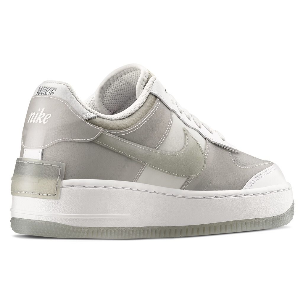 NIKE AIR FORCE 1 SHADOW SE bianche e grigie – AW LAB
