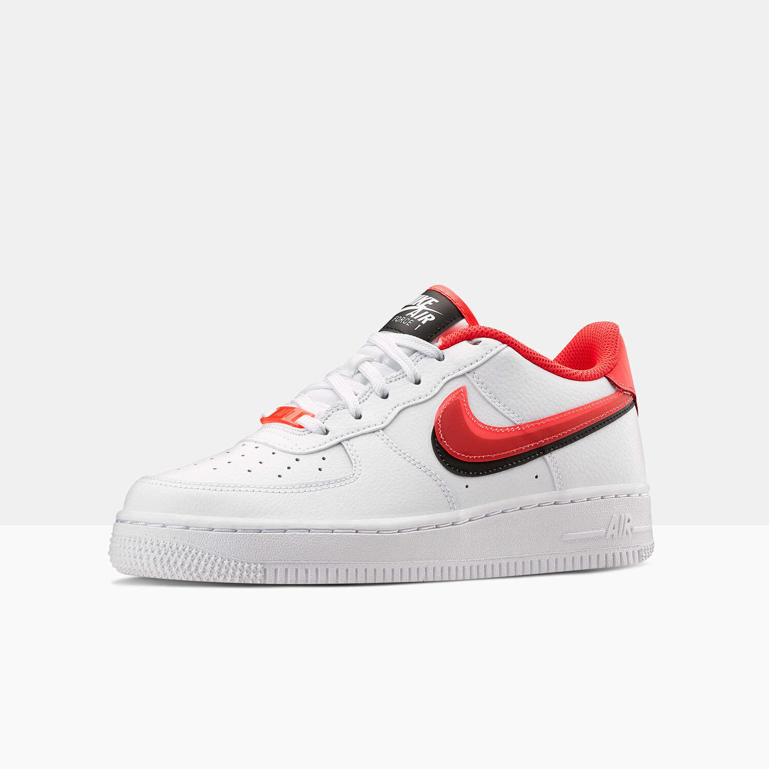 NIKE AIR FORCE 1 LV8 bianche, rosse e nere – AW LAB