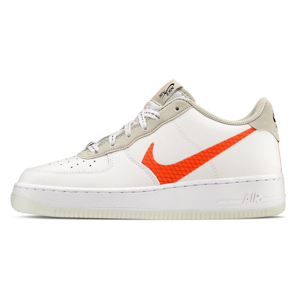Nike Air Force 1 '07 LV8 3 bianche e arancioni AW LAB
