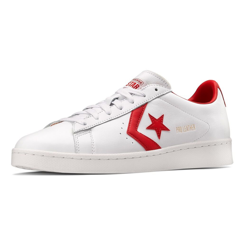 Converse Pro Leather bianche e rosse - AW LAB